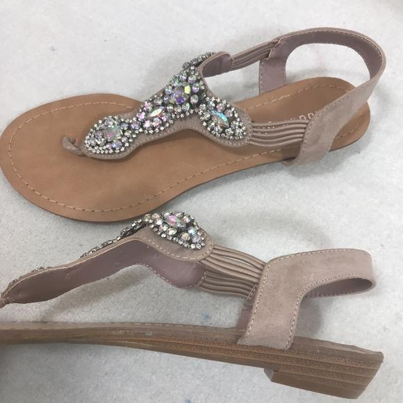 Sale Madden Girl Tuzie T Strap Jeweled